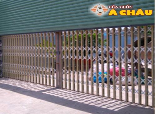 Cửa kéo Đài Loan không lá kết hợp cửa cuốn an toàn, đẹp, thông thoáng